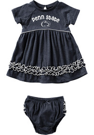 Penn State Nittany Lions Baby Girls Colosseum Lucky Dress - Navy Blue