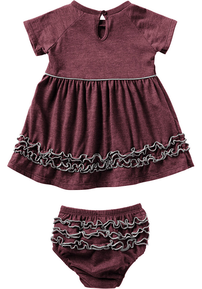 Colosseum Texas A&M Aggies Baby Girls Maroon Lucky Short Sleeve Dress - Image 2