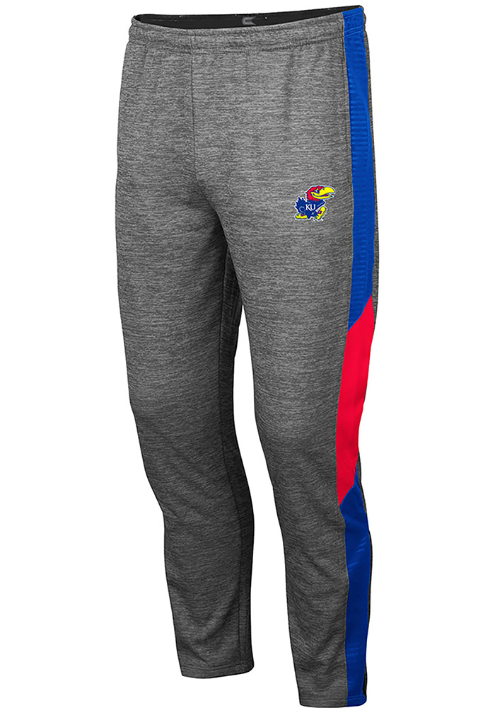 Colosseum Kansas Jayhawks Mens Grey Bart Pants - Image 1