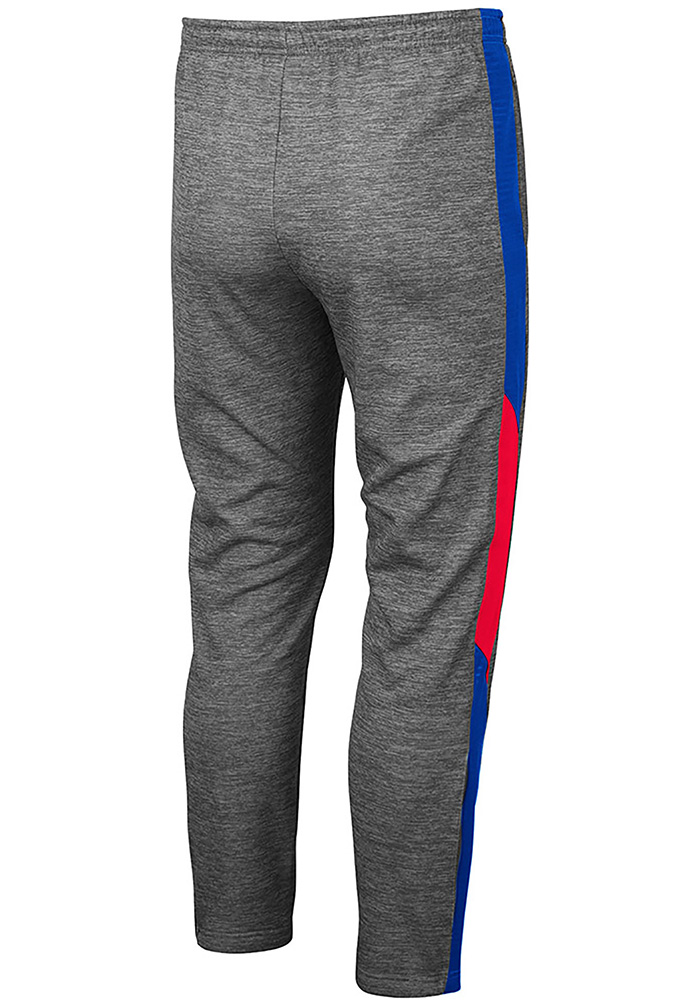 Colosseum Kansas Jayhawks Mens Grey Bart Pants - Image 2