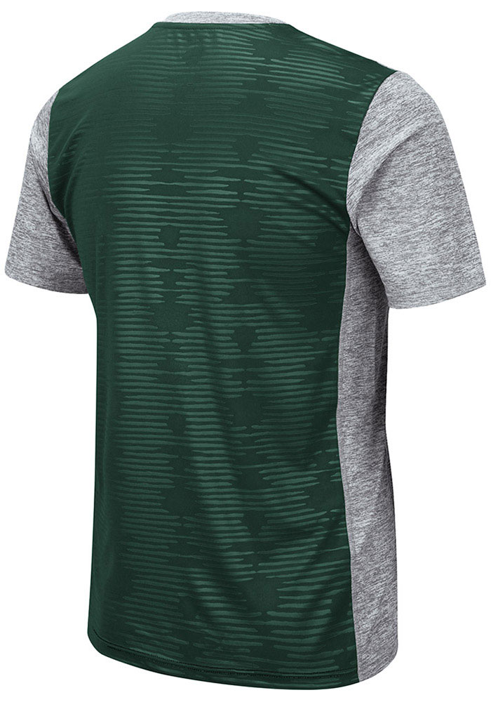 Colosseum Michigan State Spartans Grey Bart Short Sleeve T Shirt - Image 2
