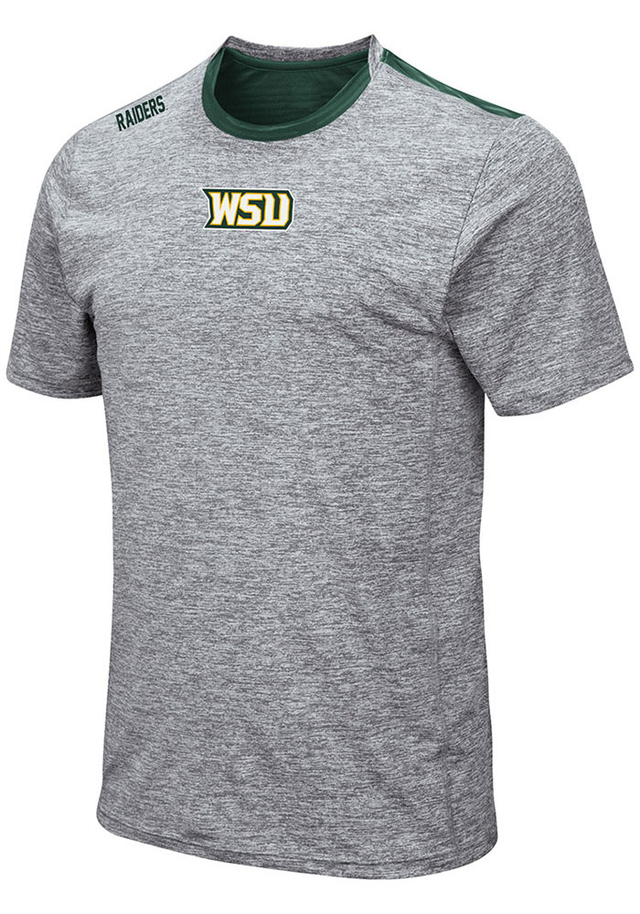 Colosseum Wright State Raiders Grey Bart Short Sleeve T Shirt - Image 1