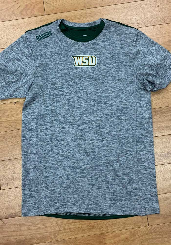 Colosseum Wright State Raiders Grey Bart Short Sleeve T Shirt - Image 3