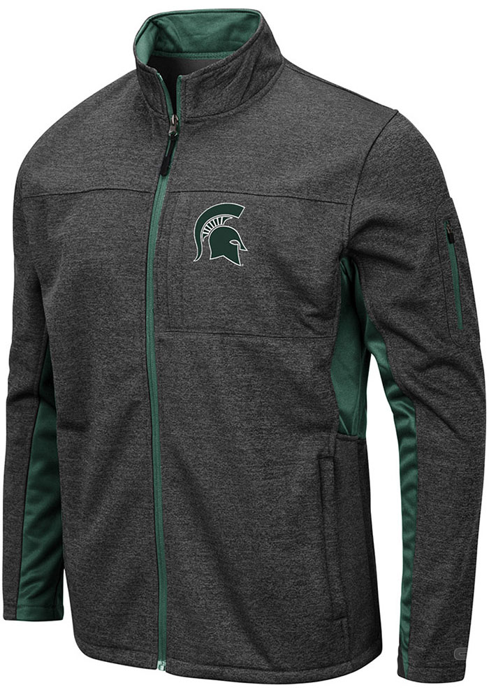 Colosseum Michigan State Spartans Mens Grey Bumblebee Medium Weight Jacket - Image 1