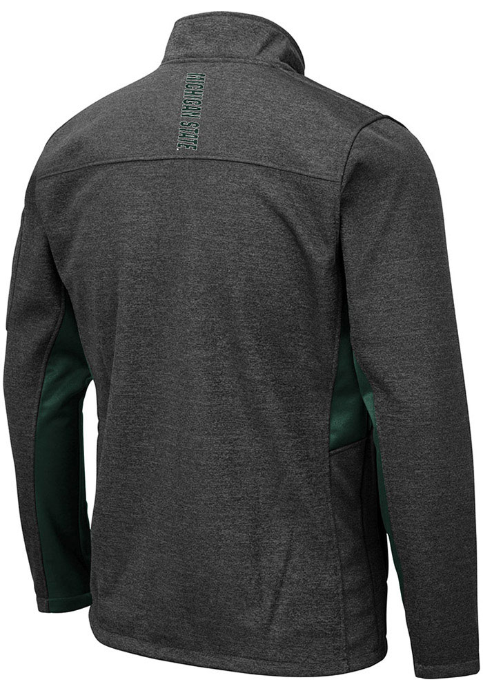 Colosseum Michigan State Spartans Mens Grey Bumblebee Medium Weight Jacket - Image 2