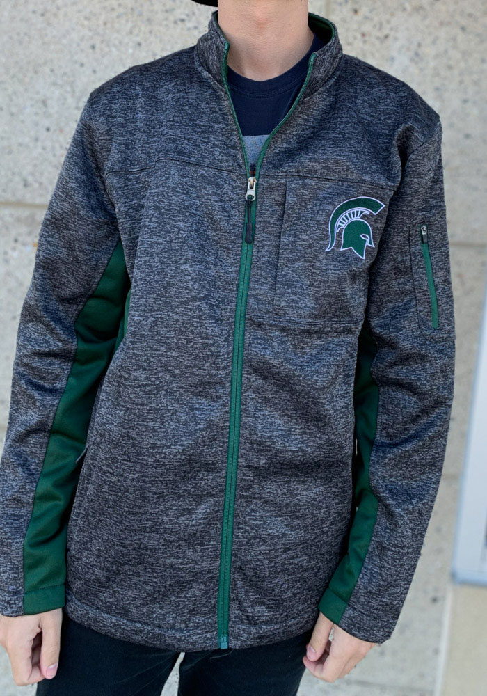 Colosseum Michigan State Spartans Mens Grey Bumblebee Medium Weight Jacket - Image 3