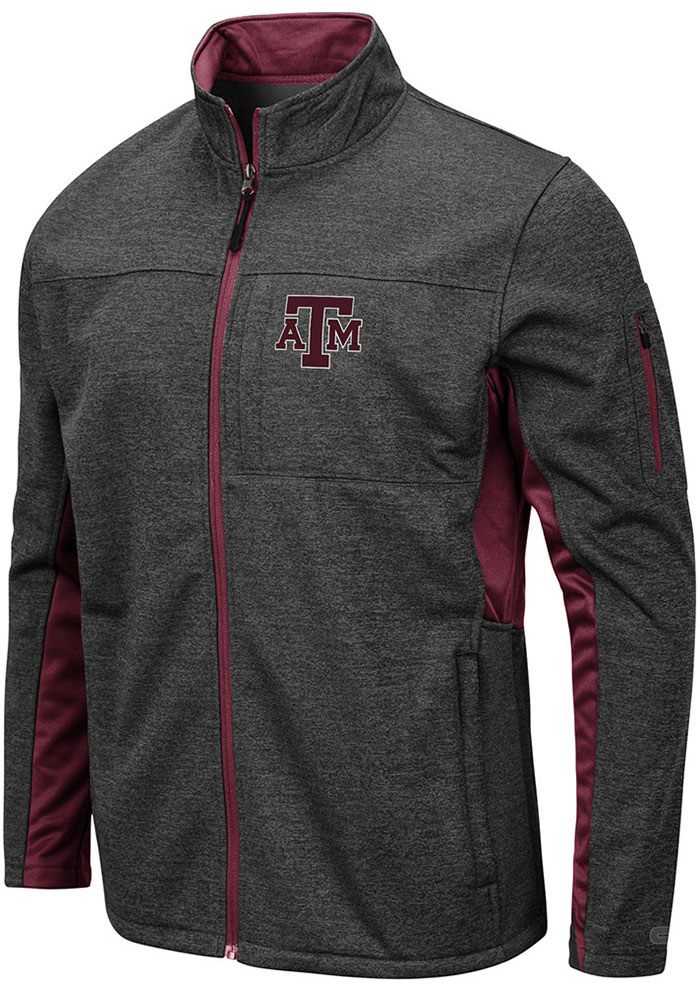 Colosseum Texas A&M Aggies Mens Grey Bumblebee Light Weight Jacket - Image 1