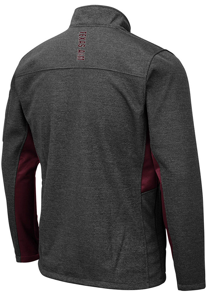 Colosseum Texas A&M Aggies Mens Grey Bumblebee Light Weight Jacket - Image 2