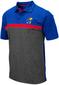 Kansas Jayhawks Colosseum Capital Polo Shirt - Blue