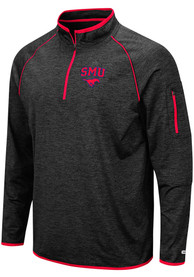 SMU Mustangs Colosseum Duff 1/4 Zip Pullover - Black