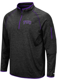 TCU Horned Frogs Colosseum Duff 1/4 Zip Pullover - Black