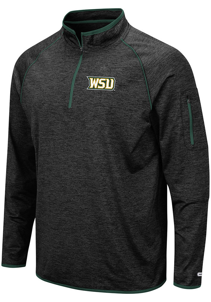 Colosseum Wright State Raiders Mens Black Duff Long Sleeve 1/4 Zip Pullover - Image 1