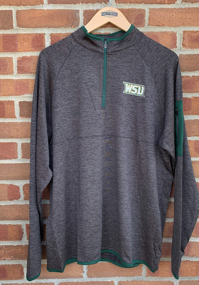 Colosseum Wright State Raiders Mens Black Duff Long Sleeve 1/4 Zip Pullover - Image 2