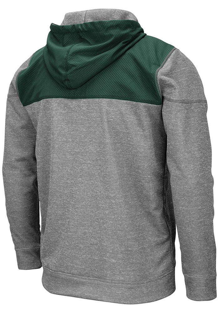 Colosseum Michigan State Spartans Mens Grey Nelson Long Sleeve Zip - Image 2