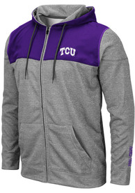 TCU Horned Frogs Colosseum Nelson Zip - Grey