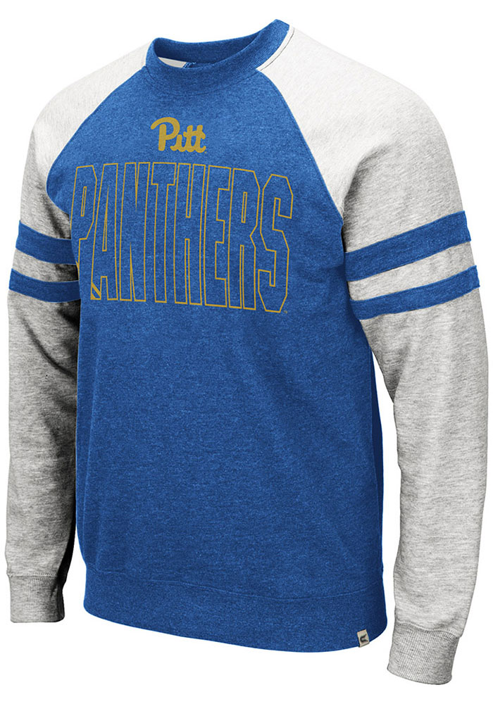 Colosseum Pitt Panthers Mens Blue Oh Long Sleeve Fashion Sweatshirt - Image 1