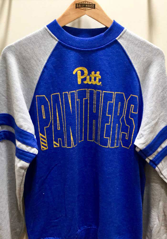 Colosseum Pitt Panthers Mens Blue Oh Long Sleeve Fashion Sweatshirt - Image 2