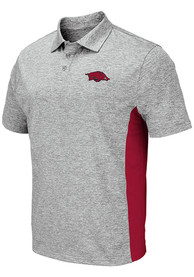 Arkansas Razorbacks Colosseum Alaska Polo Shirt - Grey