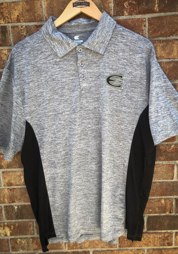 Colosseum Emporia State Hornets Mens Grey Alaska Short Sleeve Polo - Image 3