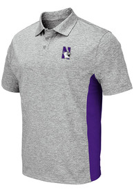 Northwestern Wildcats Colosseum Alaska Polo Shirt - Grey