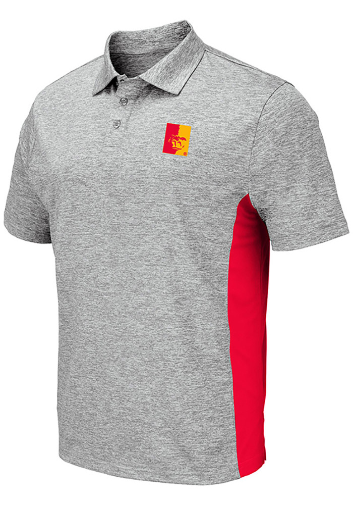 Colosseum Pitt State Gorillas Mens Grey Alaska Short Sleeve Polo - Image 1