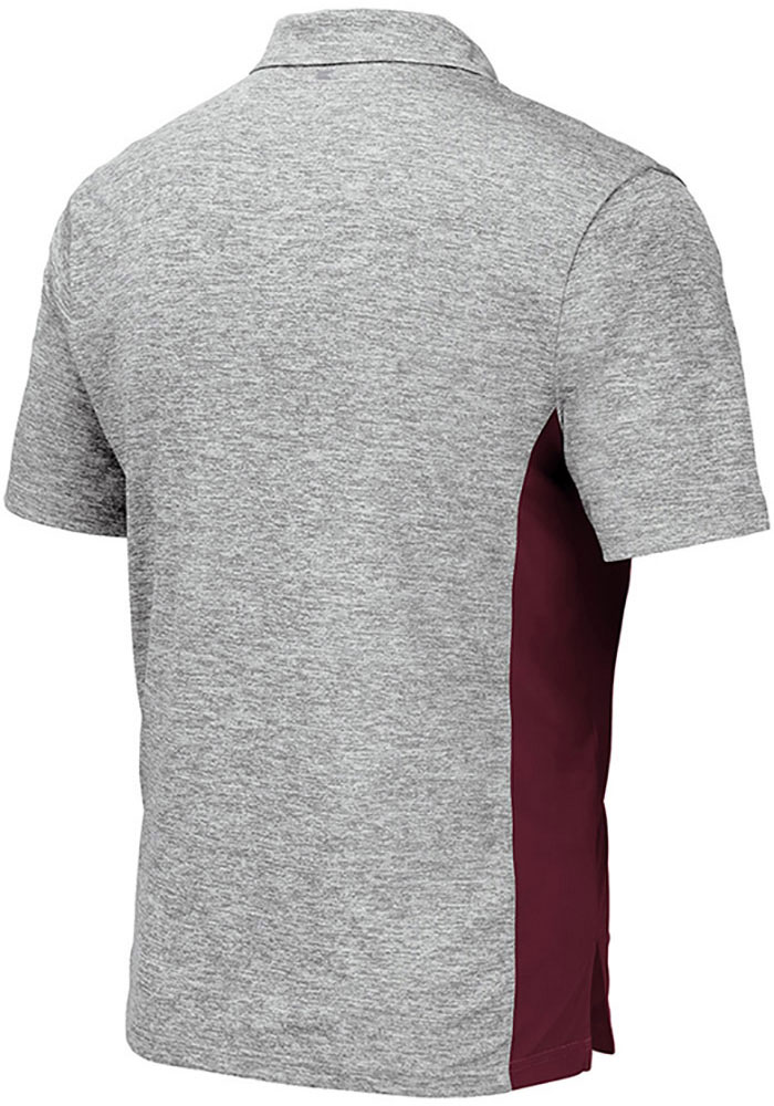 Colosseum Texas A&M Aggies Mens Grey Alaska Short Sleeve Polo - Image 2