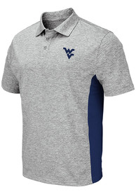 West Virginia Mountaineers Colosseum Alaska Polo Shirt - Grey