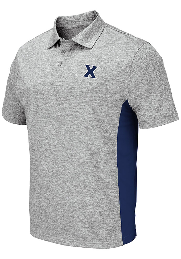 Colosseum Xavier Musketeers Mens Grey Alaska Short Sleeve Polo - Image 1