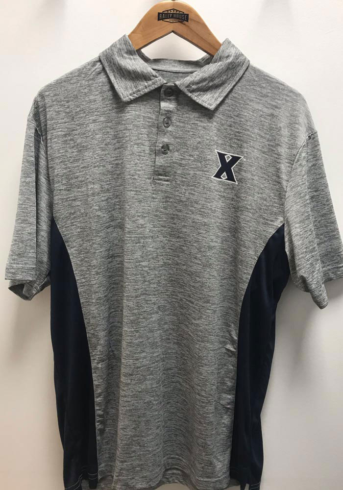 Colosseum Xavier Musketeers Mens Grey Alaska Short Sleeve Polo - Image 3