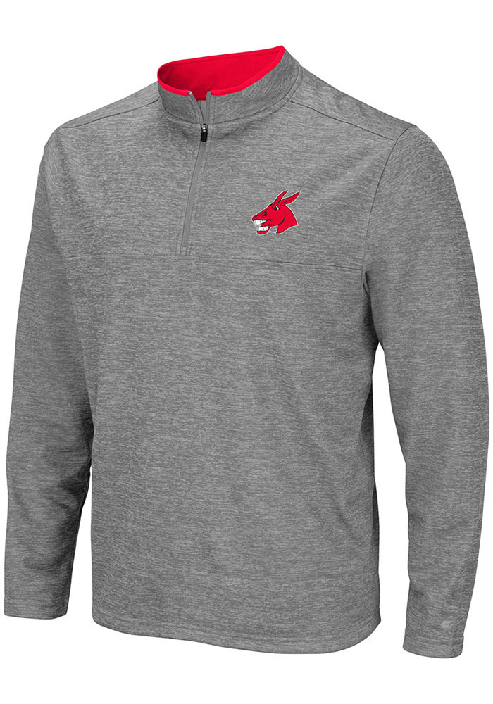 Colosseum Central Missouri Mules Mens Grey Alligators are Ornery Long Sleeve 1/4 Zip Pullover - Image 1