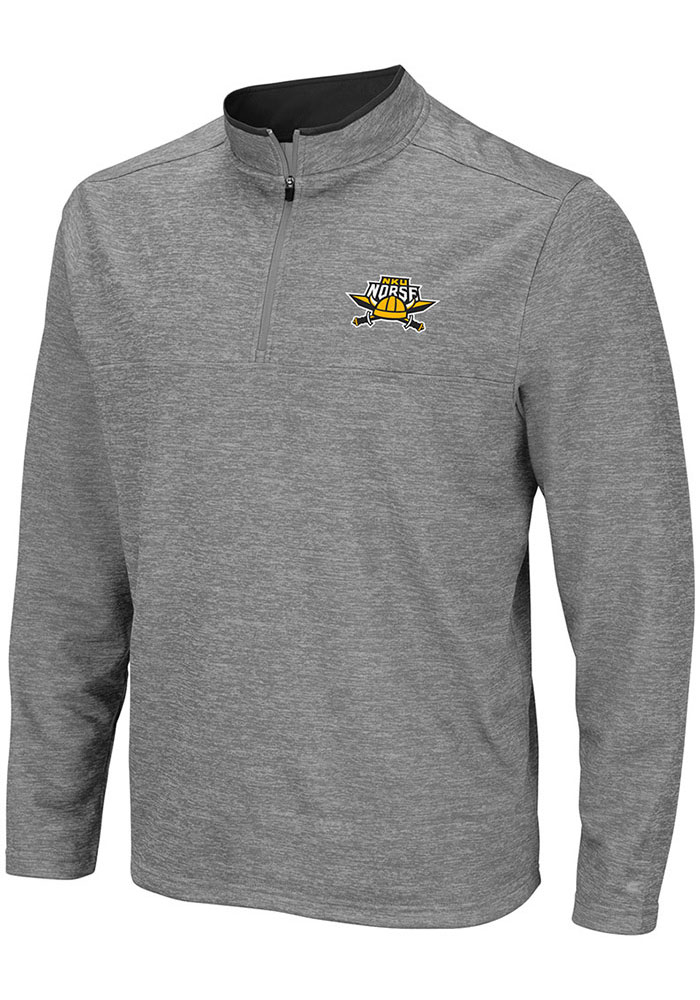 Colosseum Northern Kentucky Norse Mens Grey Alligators are Ornery Long Sleeve 1/4 Zip Pullover - Image 1