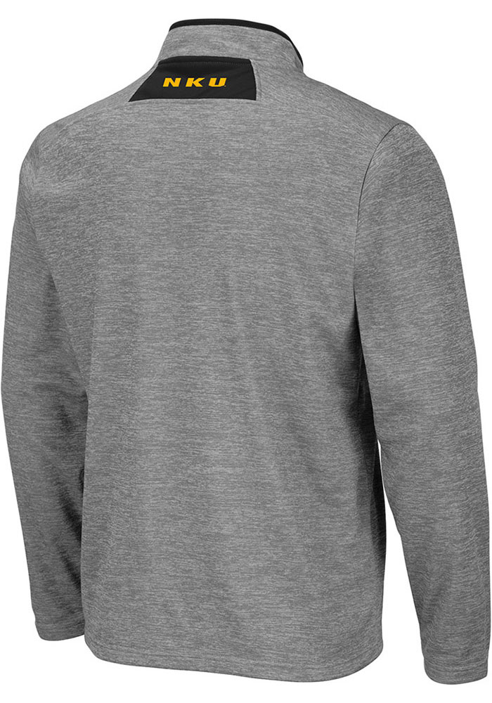 Colosseum Northern Kentucky Norse Mens Grey Alligators are Ornery Long Sleeve 1/4 Zip Pullover - Image 2