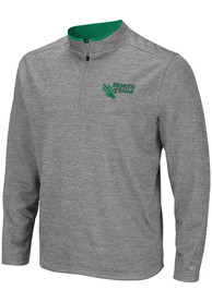 North Texas Mean Green Colosseum Alligators are Ornery 1/4 Zip Pullover - Grey