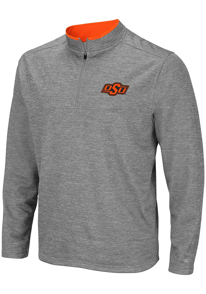 5b36b5428 Colosseum Oklahoma State Cowboys Grey Alligators are Ornery 1 4 Zip Pullover