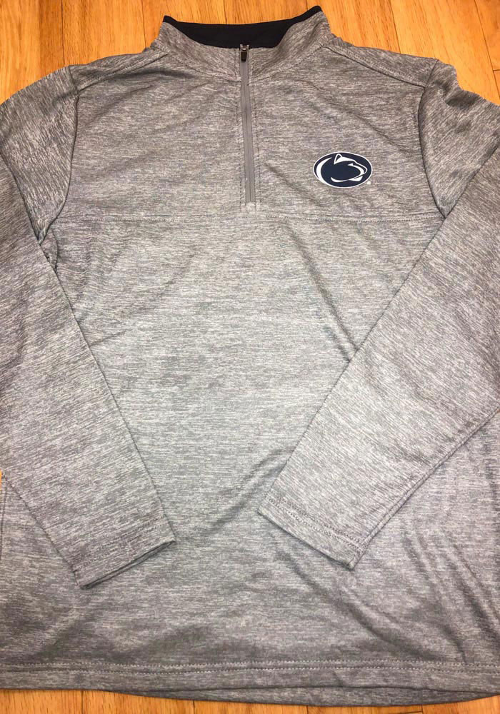 Colosseum Penn State Nittany Lions Mens Grey Alligators are Ornery Long Sleeve 1/4 Zip Pullover - Image 3
