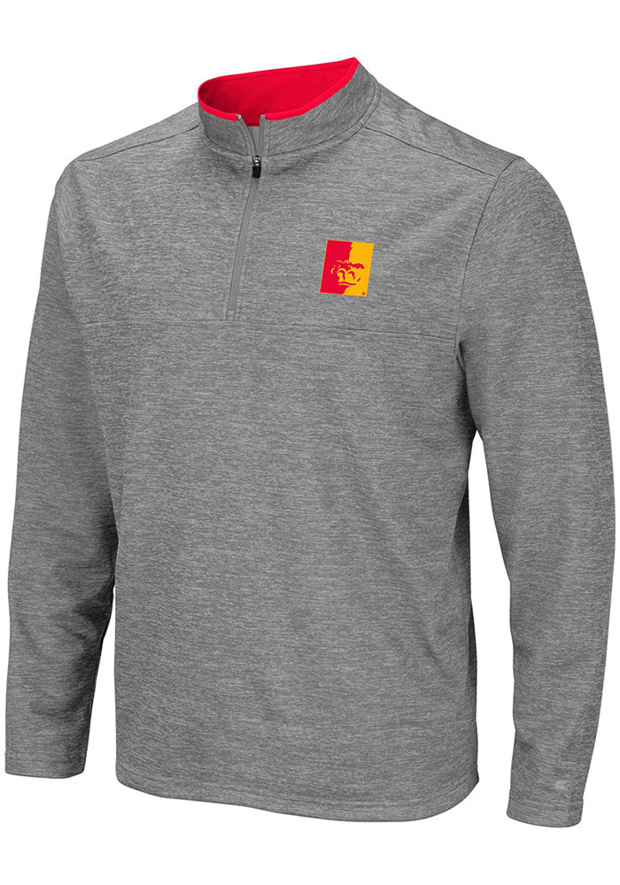 Colosseum Pitt State Gorillas Mens Grey Alligators are Ornery Long Sleeve 1/4 Zip Pullover - Image 1