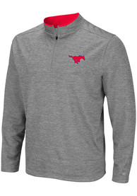 SMU Mustangs Colosseum Alligators are Ornery 1/4 Zip Pullover - Grey