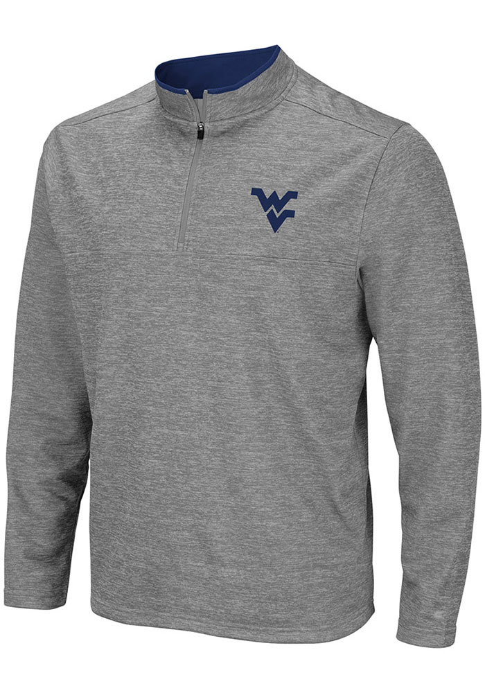 Colosseum West Virginia Mountaineers Mens Grey Alligators are Ornery Long Sleeve 1/4 Zip Pullover - Image 1