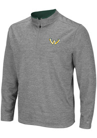 Wayne State Warriors Colosseum Alligators are Ornery 1/4 Zip Pullover - Grey
