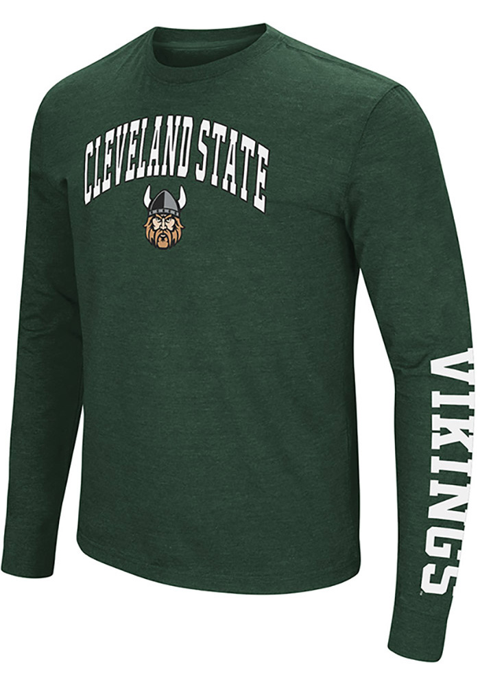 9cb82f2f3 Colosseum Cleveland State Vikings Green Jackson Tee