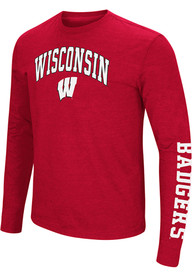 Wisconsin Badgers Colosseum Jackson T Shirt - Red