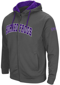 TCU Horned Frogs Colosseum Classic Full Zip Jacket - Charcoal