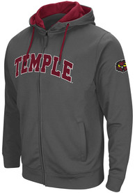 Temple Owls Colosseum Classic Full Zip Jacket - Charcoal