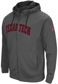Texas Tech Red Raiders Colosseum Classic Full Zip Jacket - Charcoal