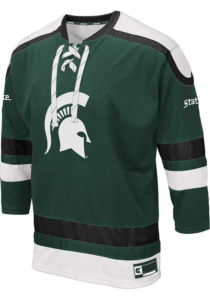 Colosseum Michigan State Spartans Mens Green Plow Hockey Jersey - Image 1