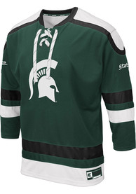 check out 9ac67 daa29 Colosseum Michigan State Spartans Mens Green Plow Hockey Jersey