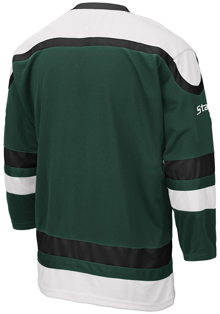Colosseum Michigan State Spartans Mens Green Plow Hockey Jersey - Image 2