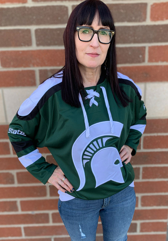 Colosseum Michigan State Spartans Mens Green Plow Hockey Jersey - Image 3