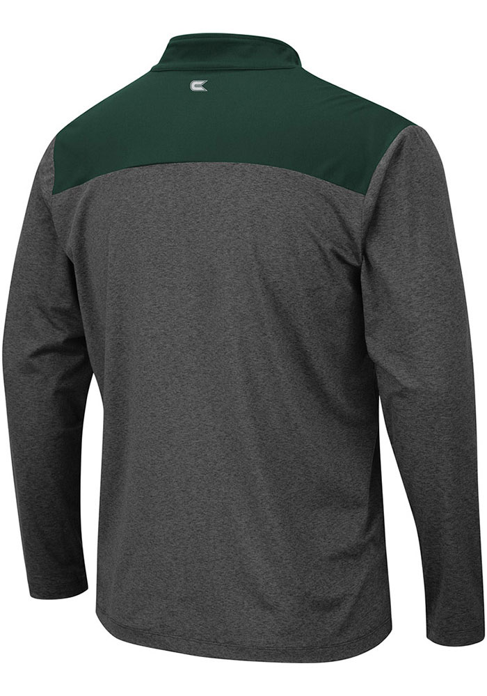 Colosseum Michigan State Spartans Mens Grey Snowball Long Sleeve 1/4 Zip Pullover - Image 2