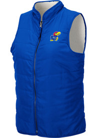 Kansas Jayhawks Womens Colosseum Blatch Reversible Vest - Blue